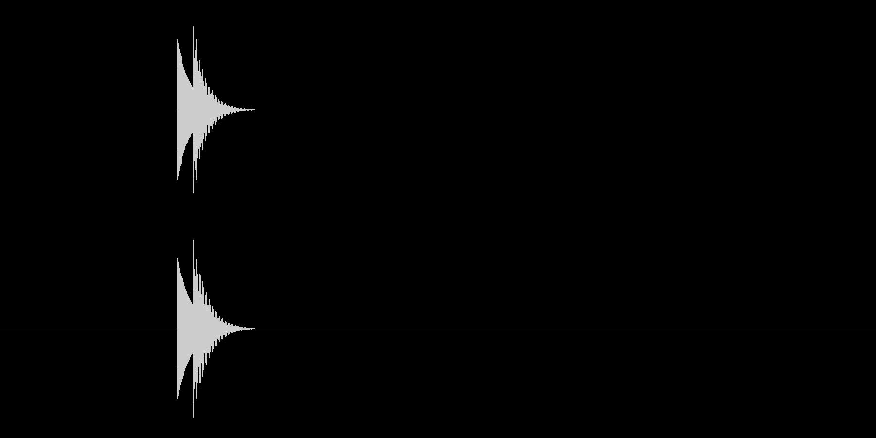 コン(選択音 決定音 ボタン)の未再生の波形