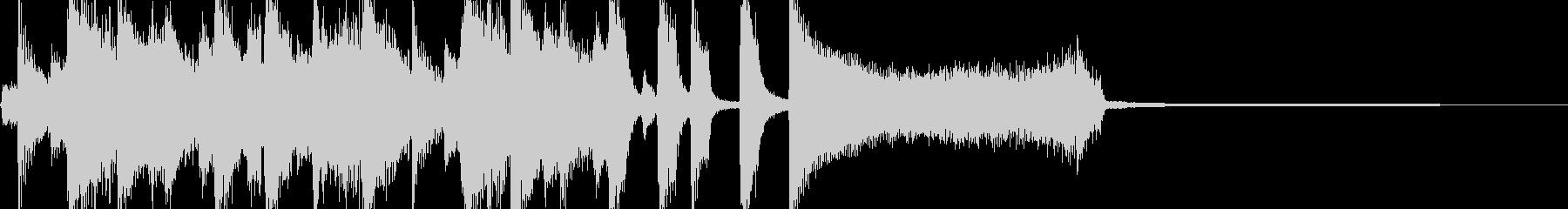 コミカルなトランペットのジャズジングルの未再生の波形