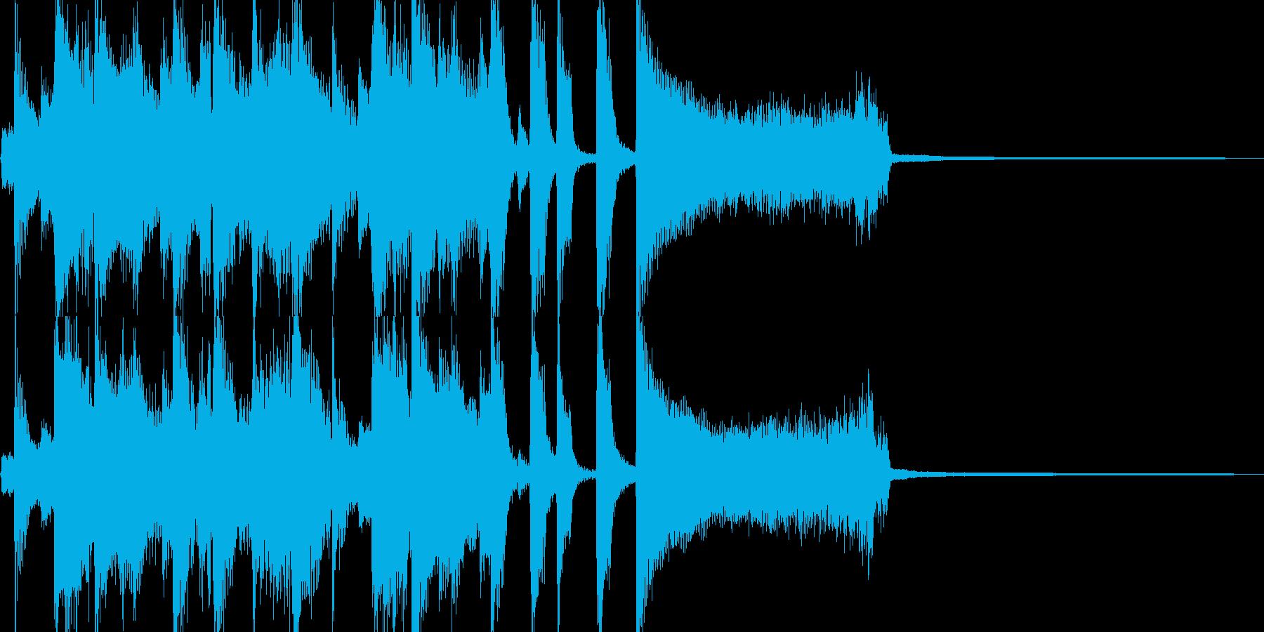 コミカルなトランペットのジャズジングルの再生済みの波形