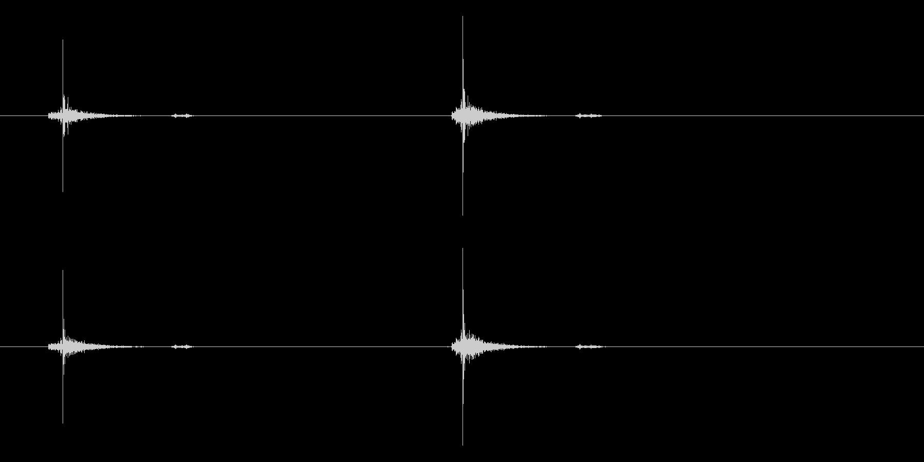 [生録音]チョキ、チョキ(ゆっくり)の未再生の波形