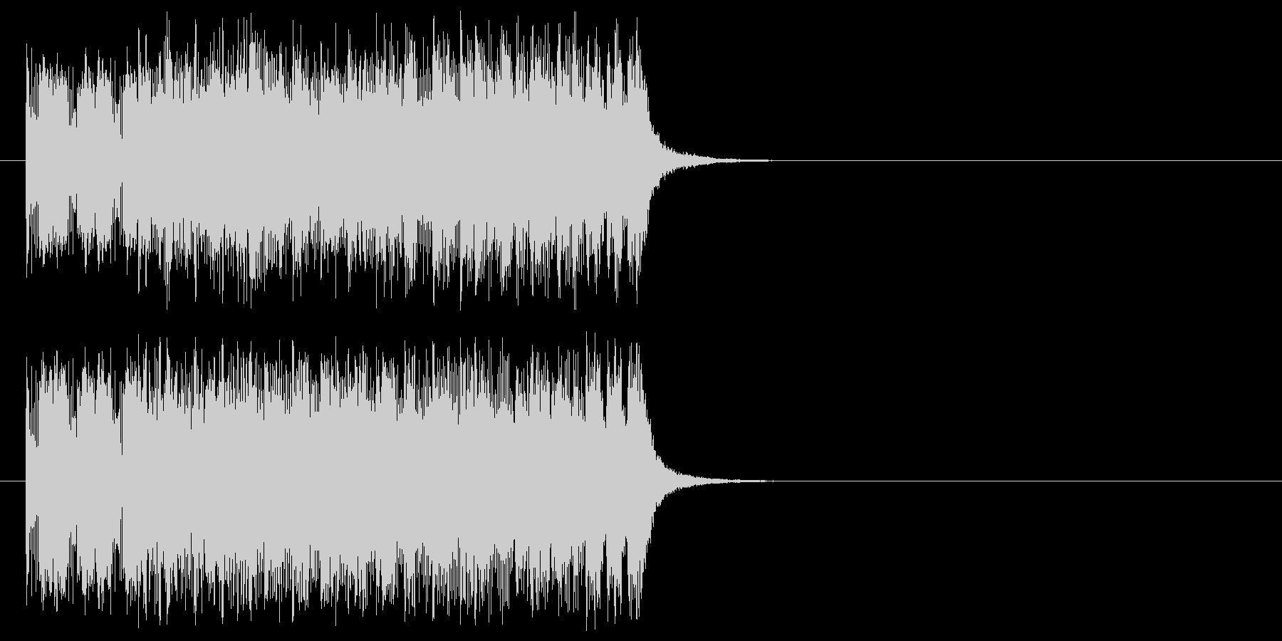 オープニング向きジングルの未再生の波形