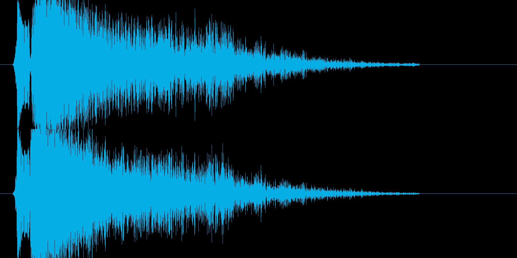 レミントン870系ショットガン発砲音の再生済みの波形