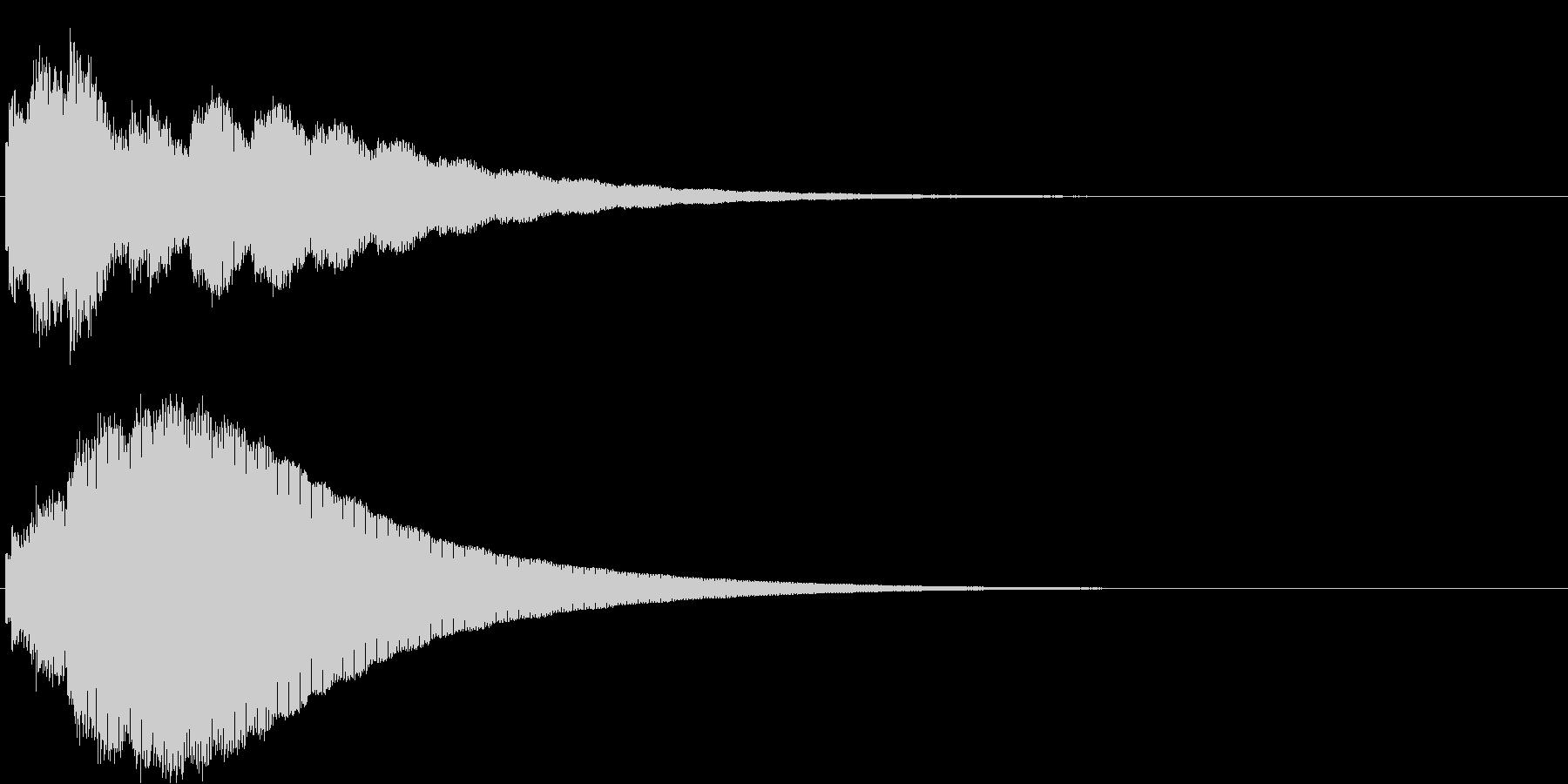 ピロロロヒーン(ボタン音・決定音)の未再生の波形