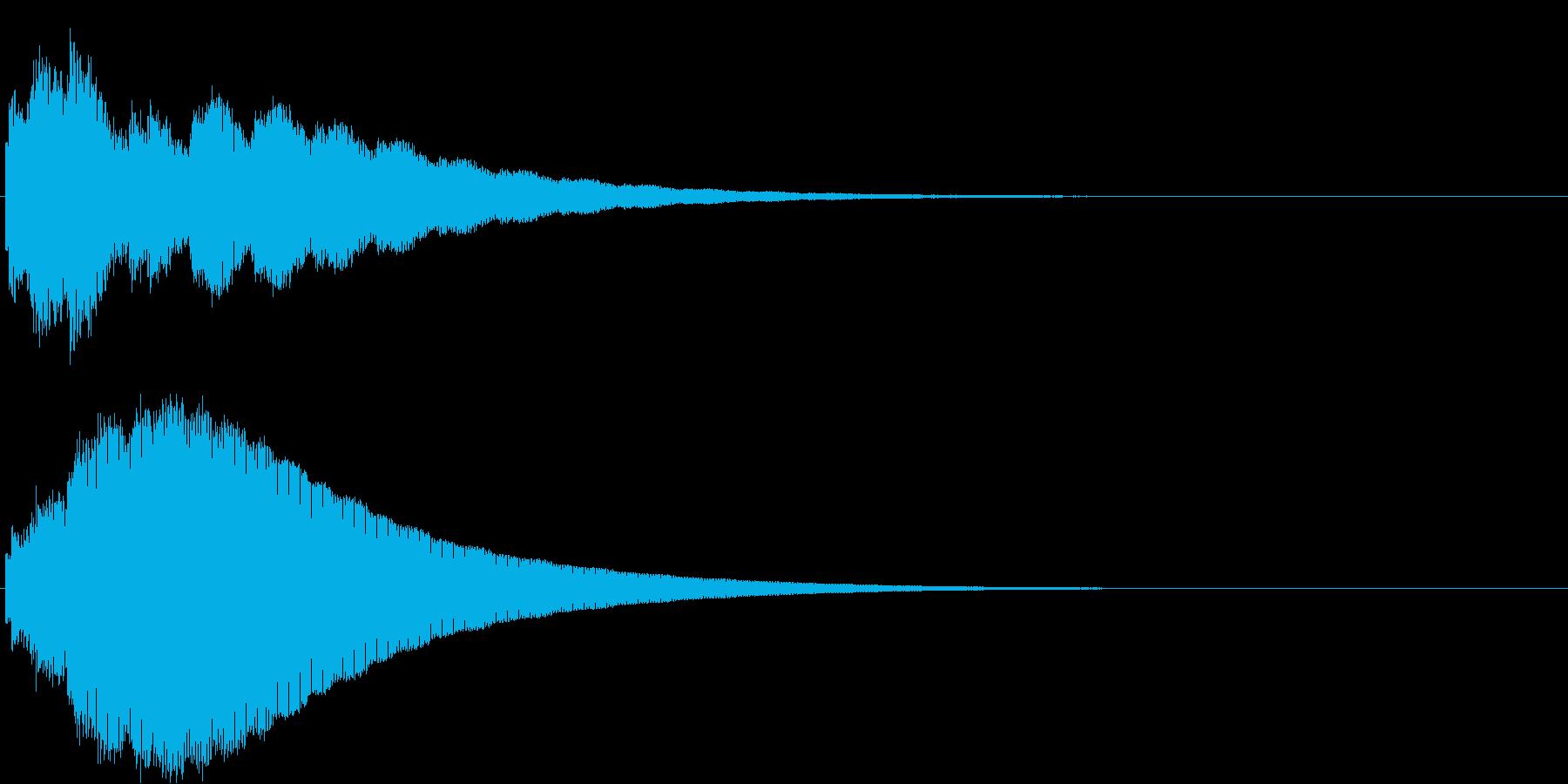 ピロロロヒーン(ボタン音・決定音)の再生済みの波形