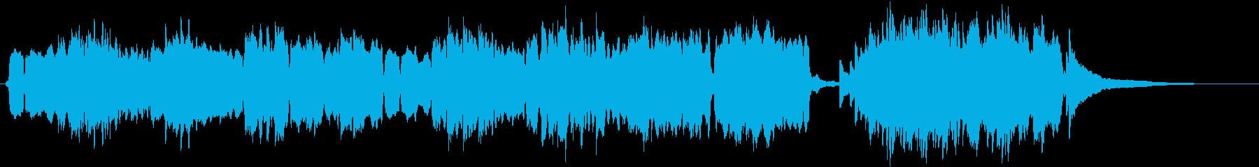 平安時代/和風/琴/尺八の再生済みの波形