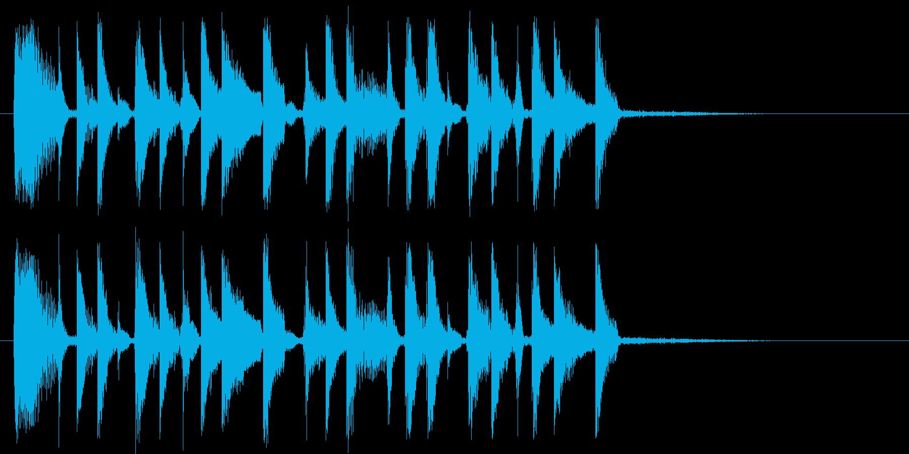 ファンキーなリズムギターカッティングの再生済みの波形