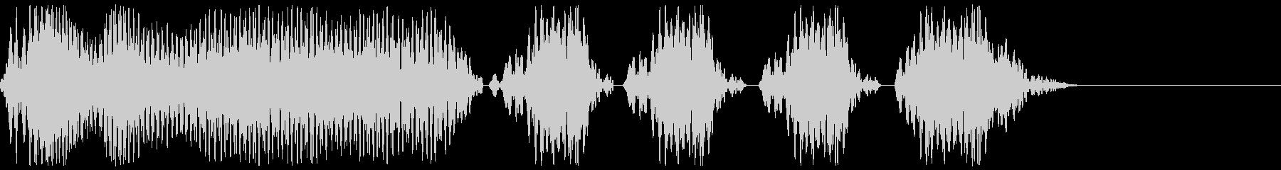 サッカーのホイッスル、警笛(ファウル3)の未再生の波形