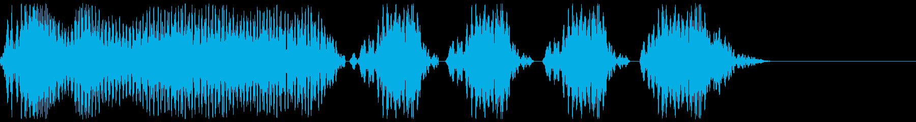 サッカーのホイッスル、警笛(ファウル3)の再生済みの波形