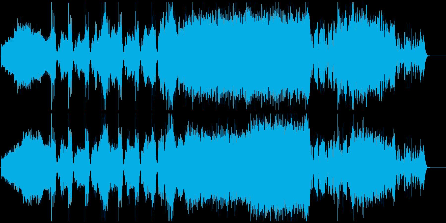 ヘビィなギターとドラム、進撃の大合唱の再生済みの波形