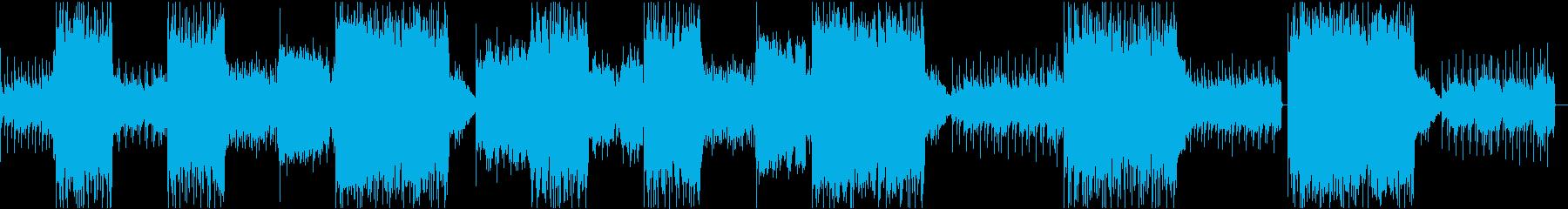怪しい雰囲気の曲instの再生済みの波形