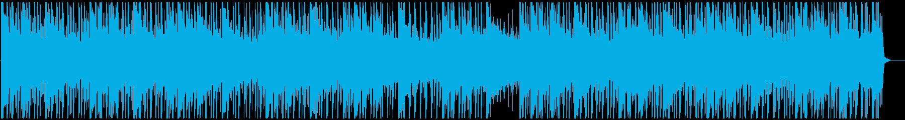 優しいサウンドのトロピカルハウスの再生済みの波形