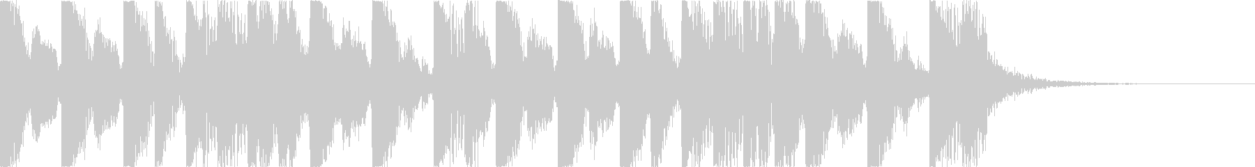 攻撃的でダークなEDM2の未再生の波形