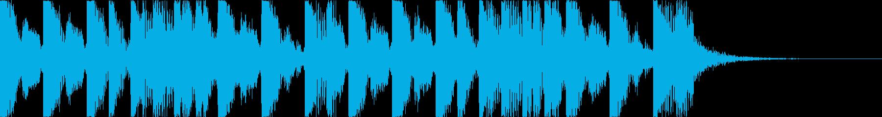 攻撃的でダークなEDM2の再生済みの波形
