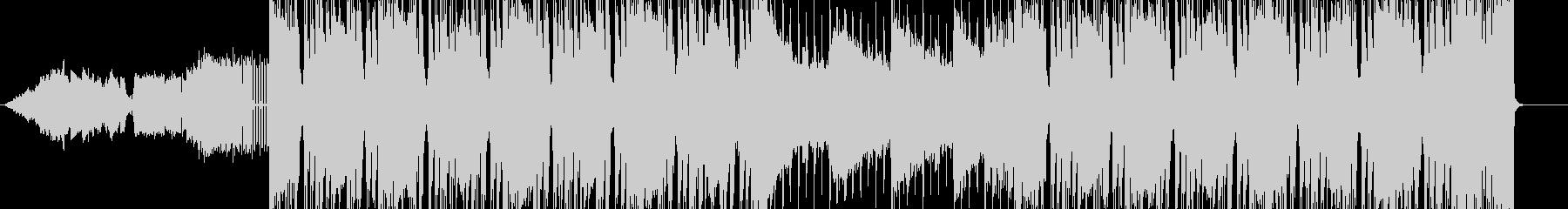 ロック感あふれるメロ無しBGMの未再生の波形