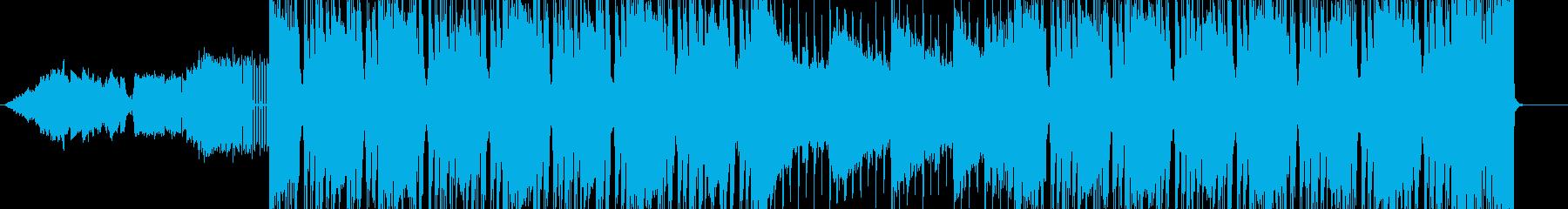 ロック感あふれるメロ無しBGMの再生済みの波形