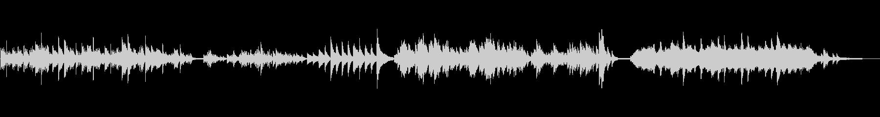 【劇伴】ミステリアスなピアノソロの未再生の波形