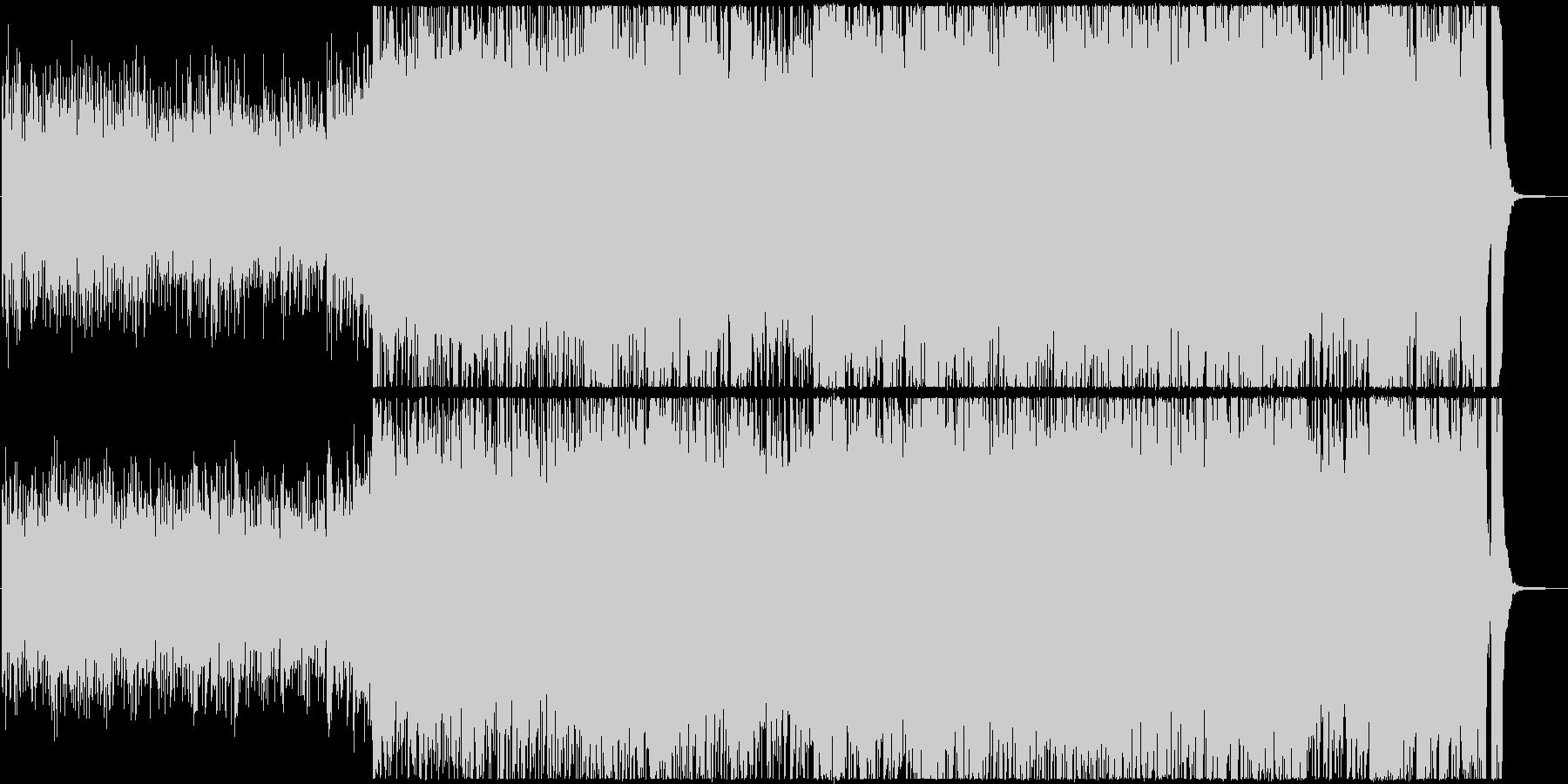 シンセサイザーを使った神秘的な曲の未再生の波形