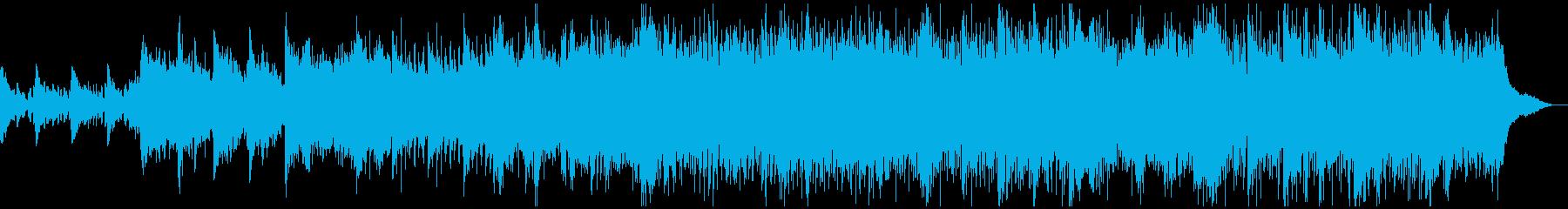 未来的なピアノ曲の再生済みの波形