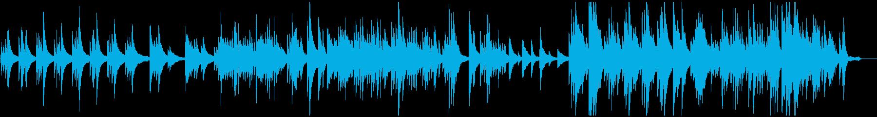 優しい感動のピアノバラードの再生済みの波形