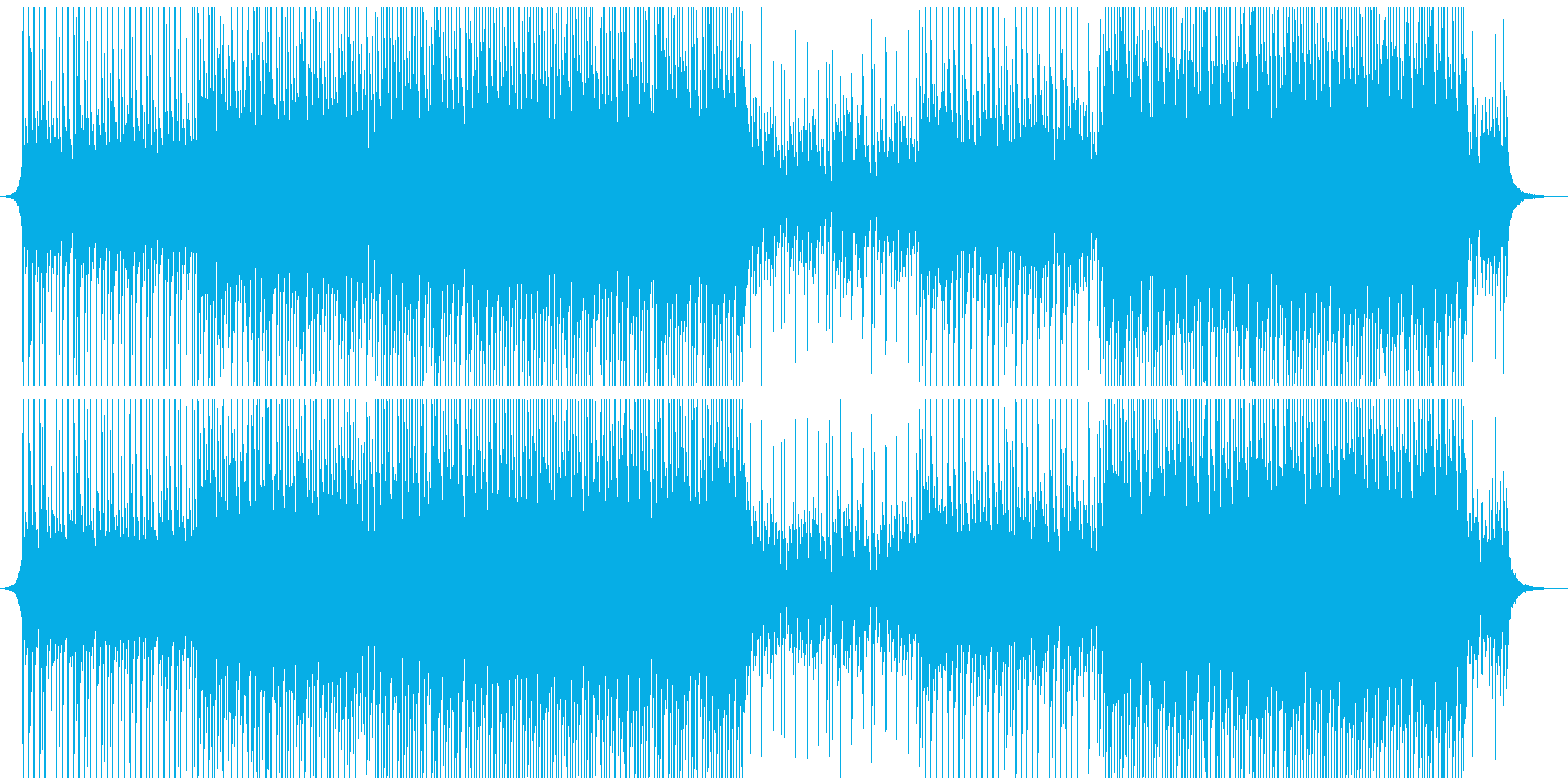 幸せな高揚の再生済みの波形