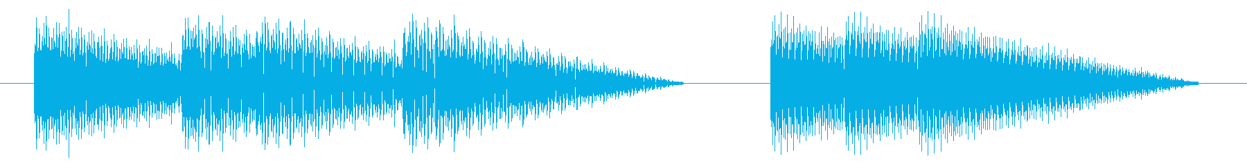 GB風アクションゲームのジングルの再生済みの波形