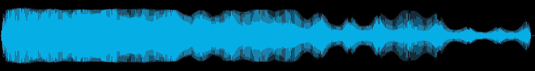 ワープエンジン(不気味な感じの効果音)の再生済みの波形