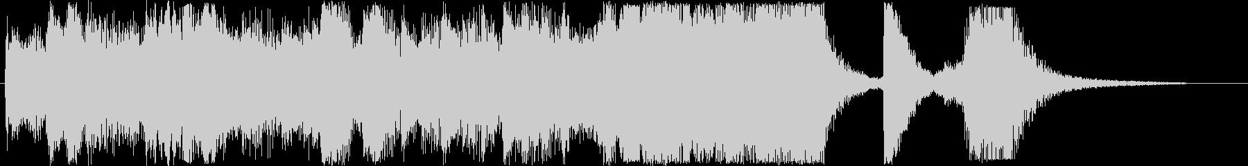 感動的なシンセなどの短めサウンドの未再生の波形