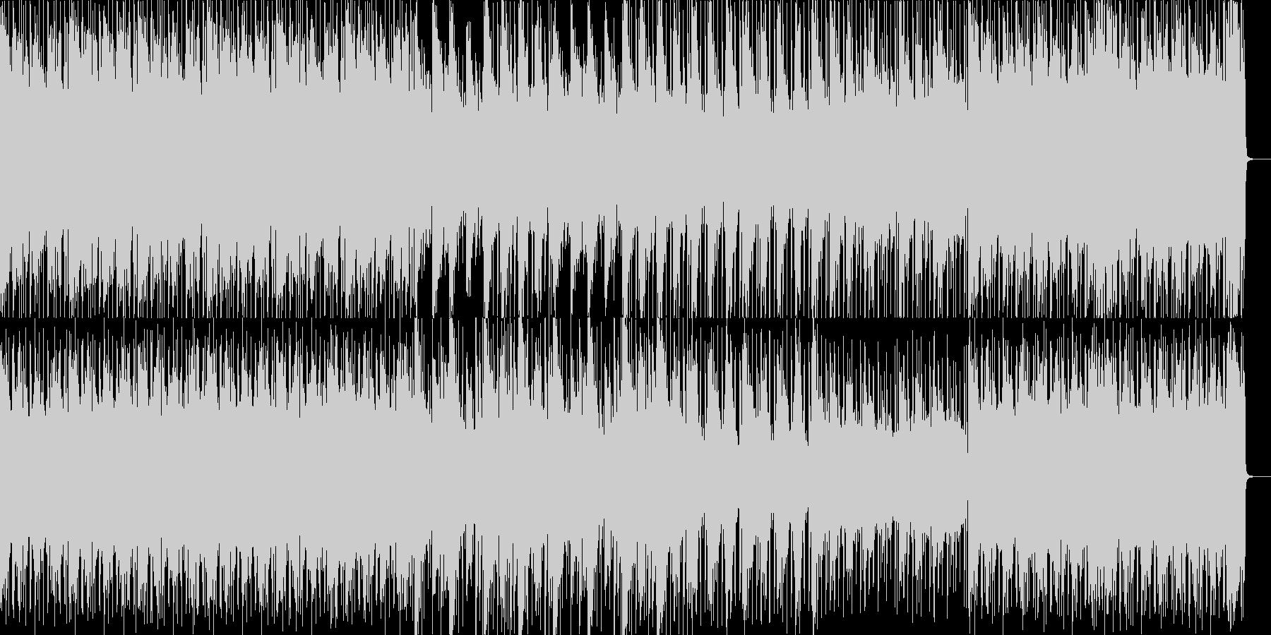 きらびやかな電子音がいっぱいのポップスの未再生の波形