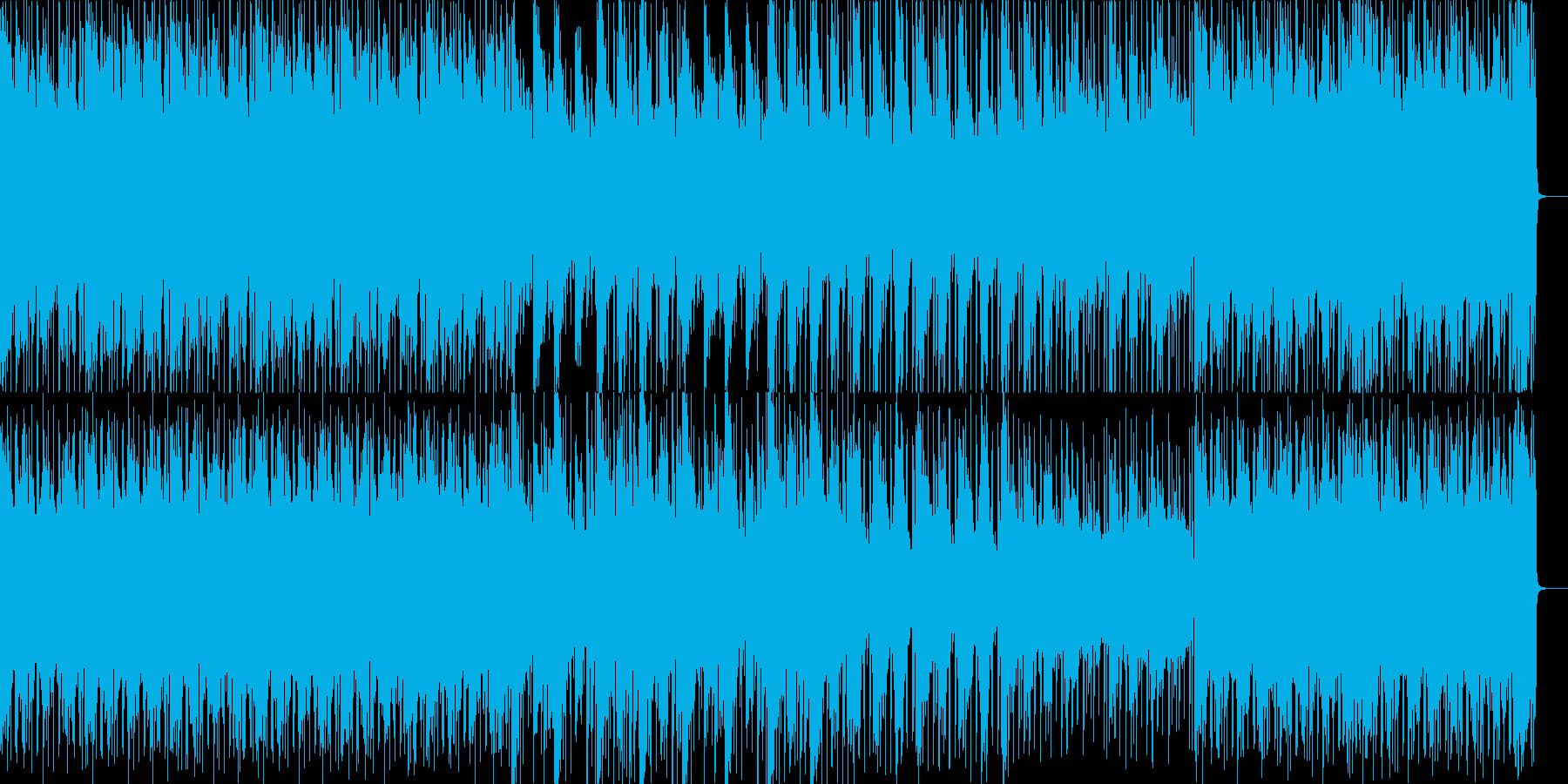 きらびやかな電子音がいっぱいのポップスの再生済みの波形