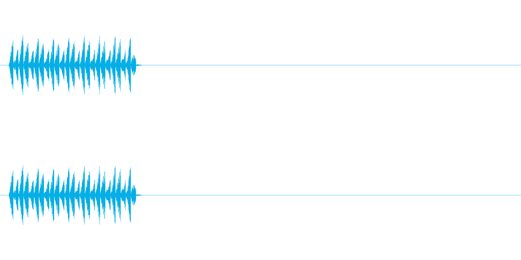 NPC会話音(声が低い)の再生済みの波形