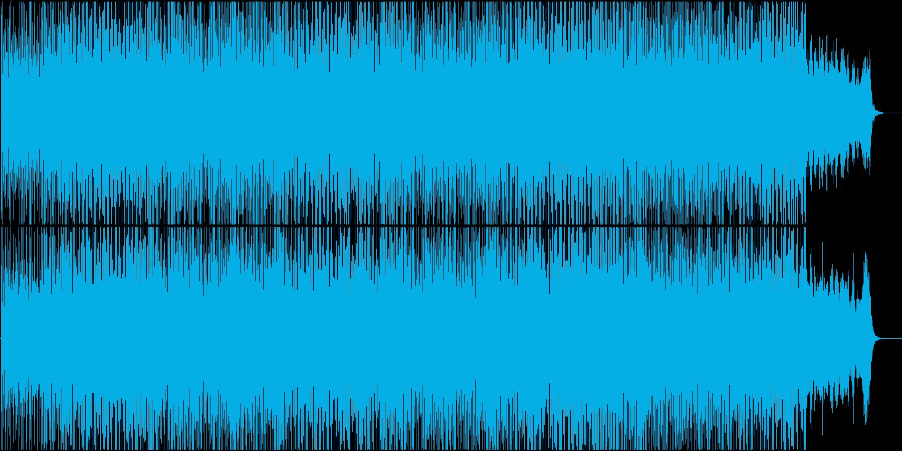 ピアノとフルートの幻想的なエレクトロニカの再生済みの波形