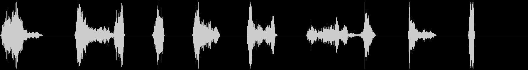 単一ボーカルのインパクト、男性41-48の未再生の波形