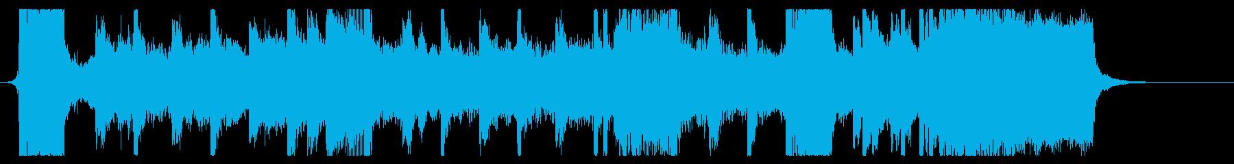 シンフォニックなダブステップジングルの再生済みの波形