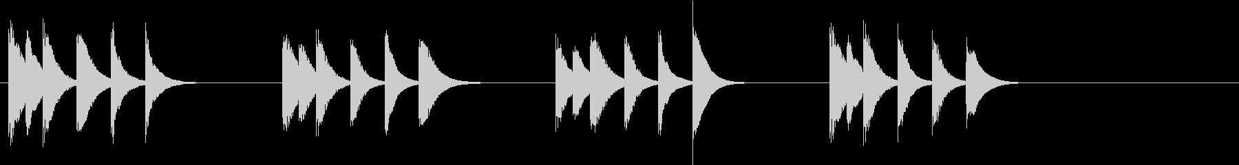 木琴の音色で作った短い曲の未再生の波形