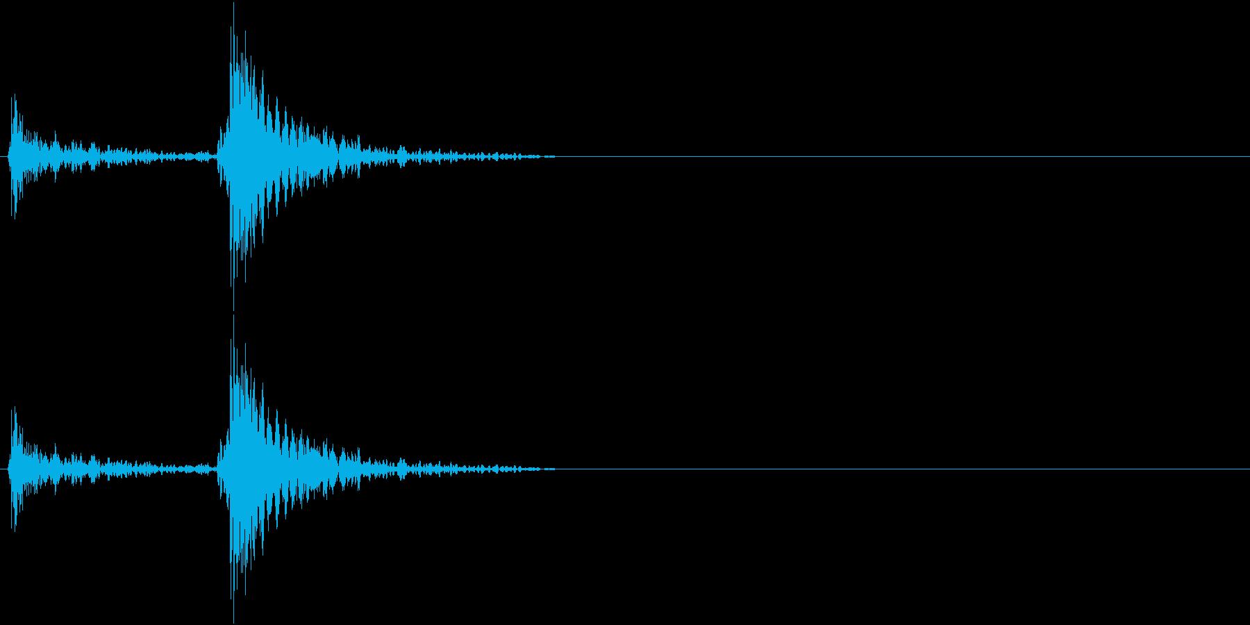 扉・ドアを閉める時の音(ガチャン)の再生済みの波形