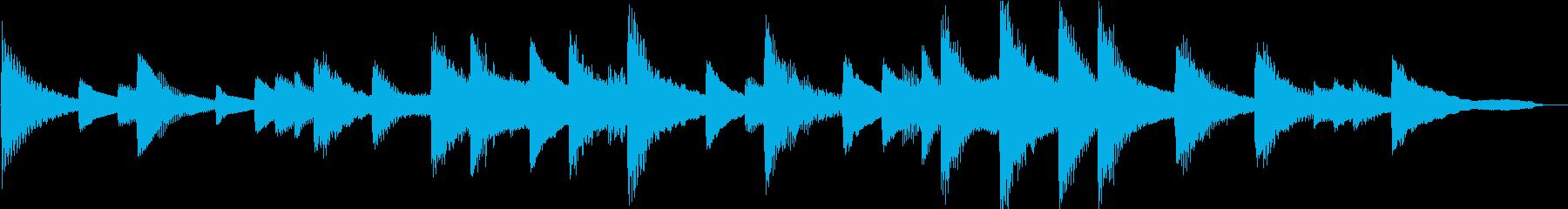 【感動的】30秒ピアノソロの再生済みの波形