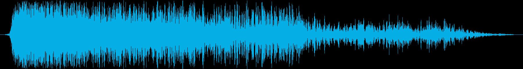 雷と落雷の再生済みの波形