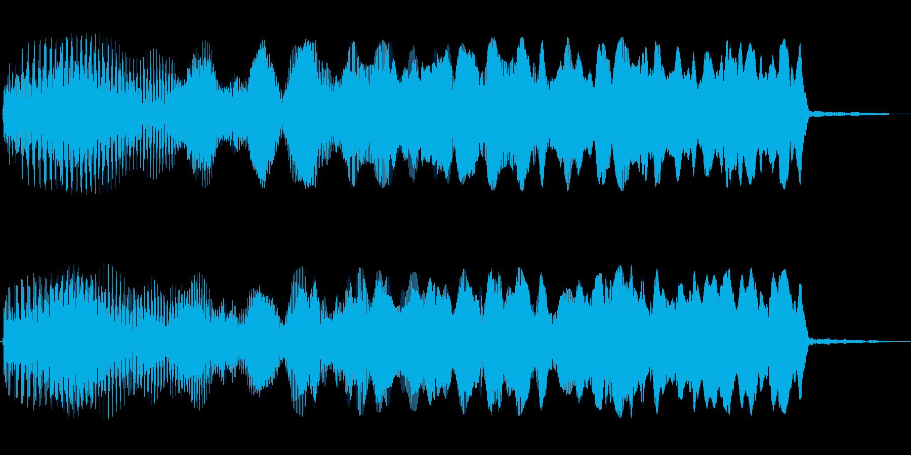 キュワーン(アップ系)の再生済みの波形
