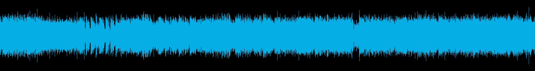 ループ 疾走感ある和風ロックバトルBGMの再生済みの波形
