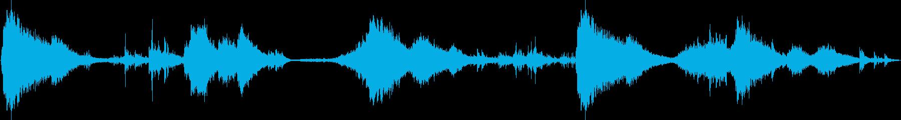 ヨガとマッサージの再生済みの波形