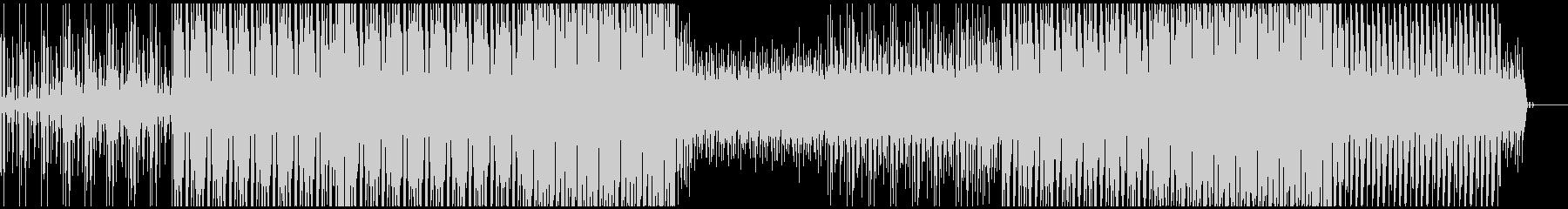 ファンキーなギターリフのテクノの未再生の波形
