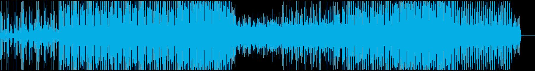 ファンキーなギターリフのテクノの再生済みの波形