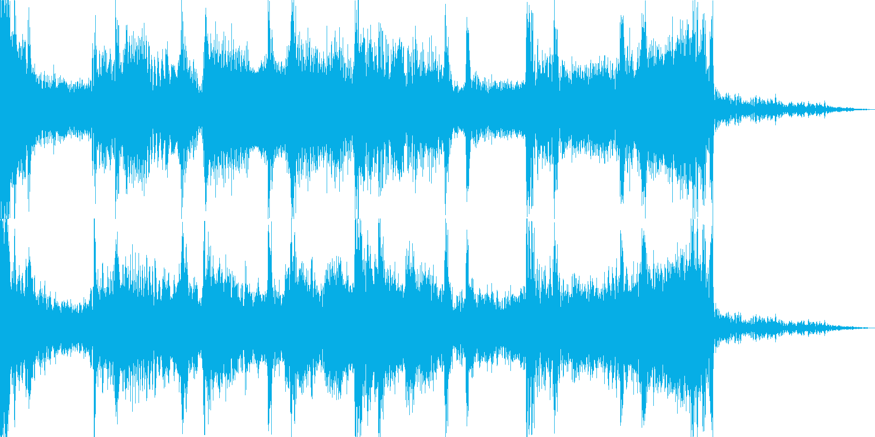 【ホラーゲーム】ワンシーン_鼓動の再生済みの波形