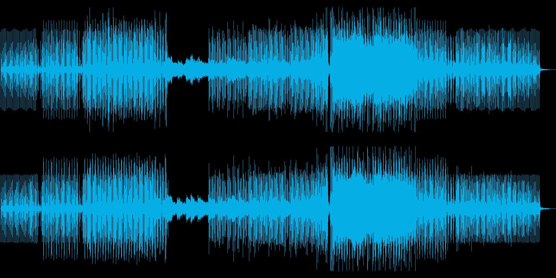 夜の余韻・朝焼けイメージの綺麗系BGMの再生済みの波形