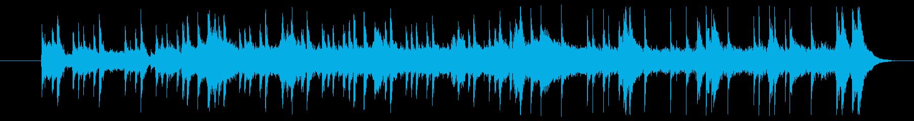 ロックなバンドミュージックの再生済みの波形