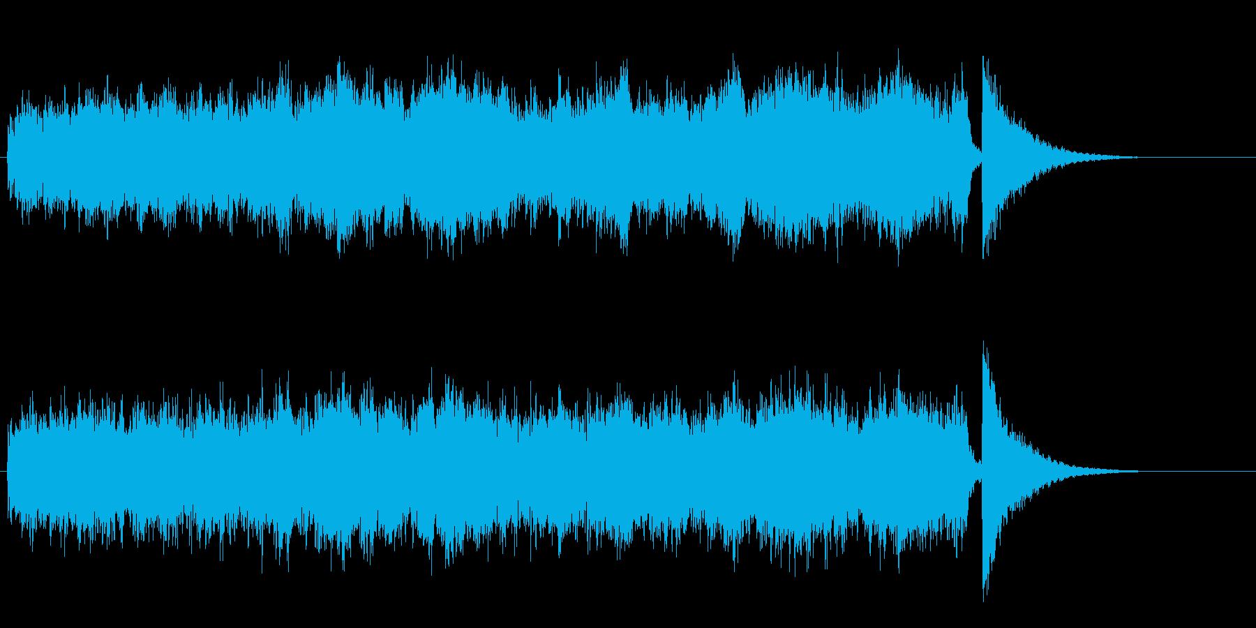 サイエンス・フィクション風環境音楽の再生済みの波形