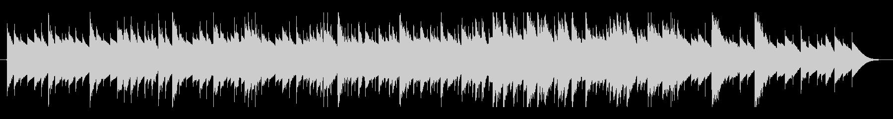 優しいオルゴールの音色のBGMの未再生の波形