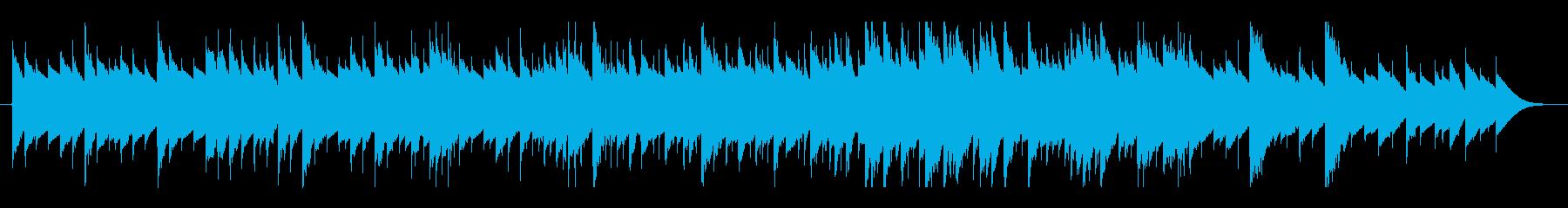 優しいオルゴールの音色のBGMの再生済みの波形