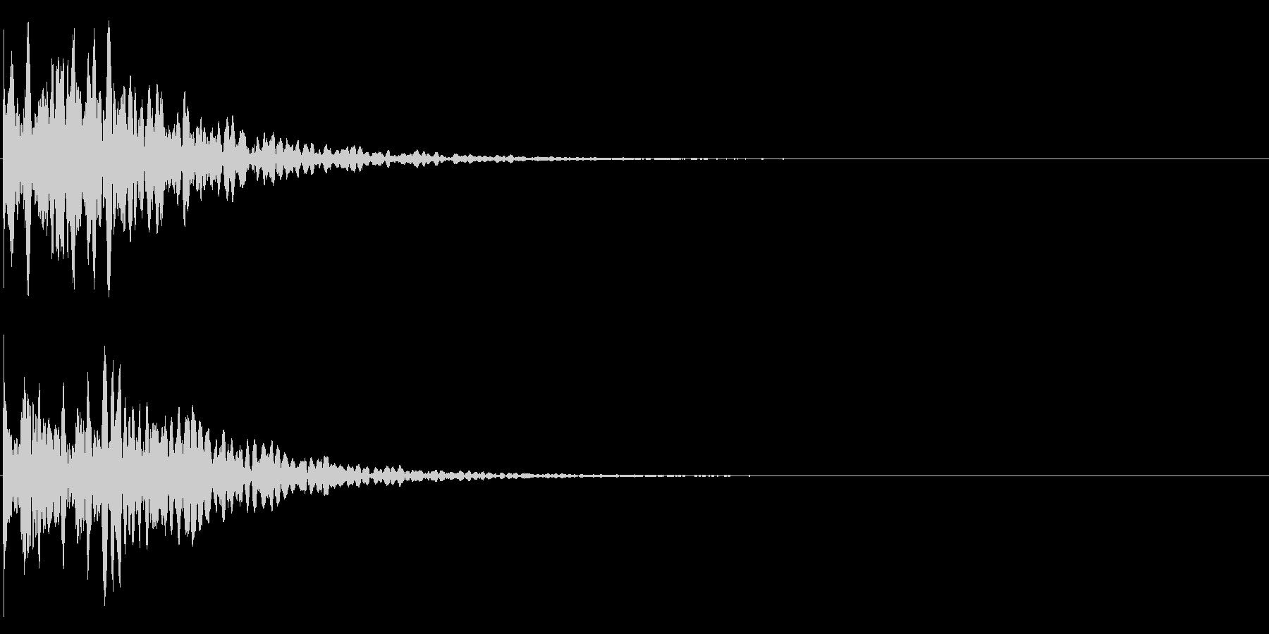 ゲームスタート、決定、ボタン音-096の未再生の波形