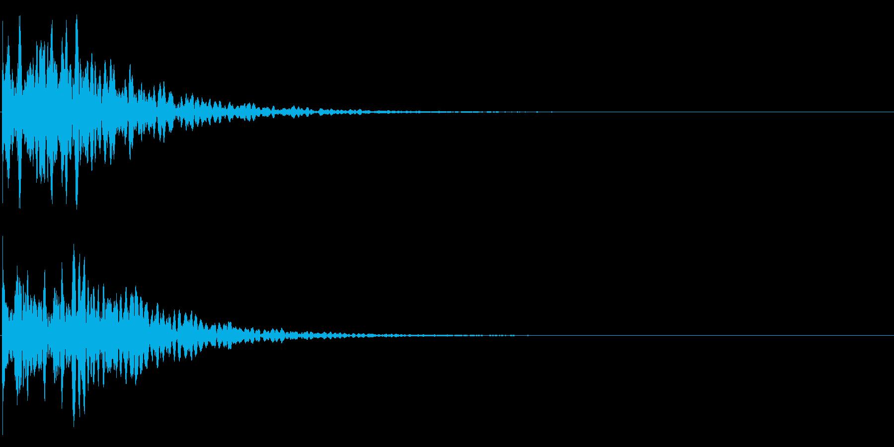 ゲームスタート、決定、ボタン音-096の再生済みの波形